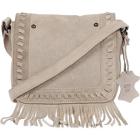 Christian Wippermann hochwertige Damentasche aus butterweichem Leder mit Fransen in Beige