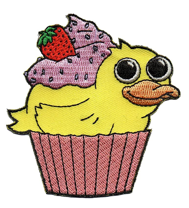 Duck Cupcake Duckcake - Embroidered Edge Patch Applique