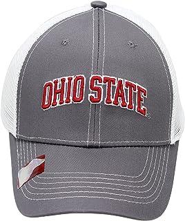 NCAA Collegiate Headwear Men`s Hat Ohio State Buckeyes Embroidered Grey Ghost Mesh Back Cap