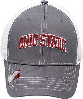 NCAA Collegiate Headwear Men's Hat Ohio State Buckeyes Embroidered Grey Ghost Mesh Back Cap