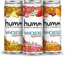 Humm Whole30 Approved Probiotic Kombucha Variety Pack - The Only Whole30 Approved Kombucha. Absurdly Tasty. 2 Billion Prob...