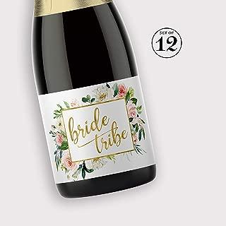mini champagne label size