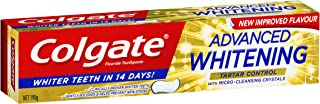 Colgate Advanced Whitening Tartar Control Whitening Toothpaste with Microcleansing Crystals Whiter Teeth in 14 Days 190g