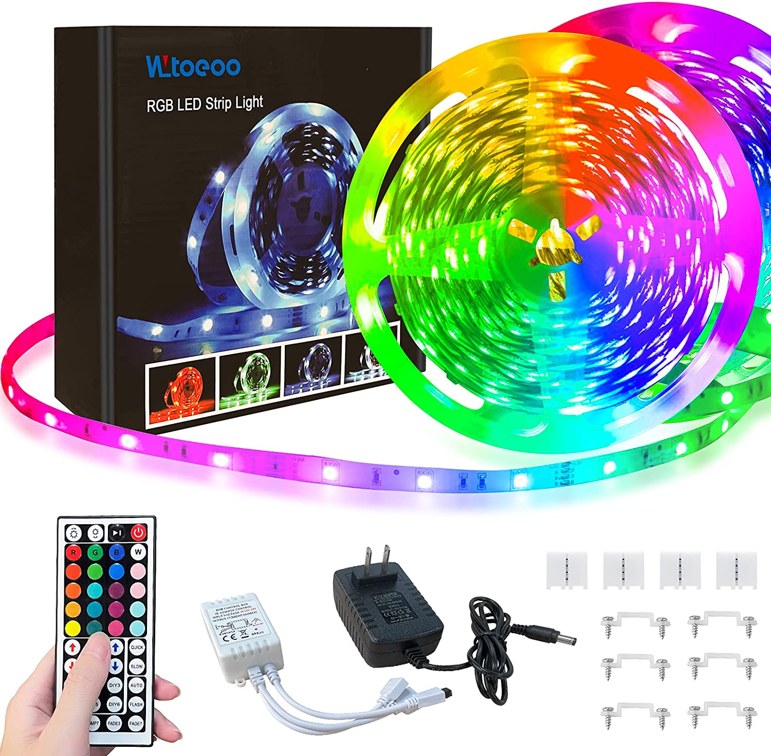 WLtoeoo Ranking integrated 1st place Led Strip NEW before selling Lights 32.8ft Changing Ligh Flexible Color