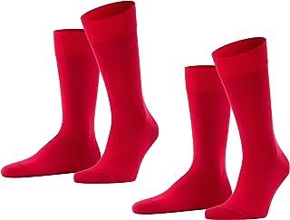 FALKE Happy 2-Pack Herren Socken scarlet 8228