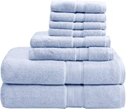 800GSM 100% Cotton Luxury Turkish Bathroom Towels, Highly Absorbent Long Oversized Linen Cotton Bath Towel Set, 8-Piece In...