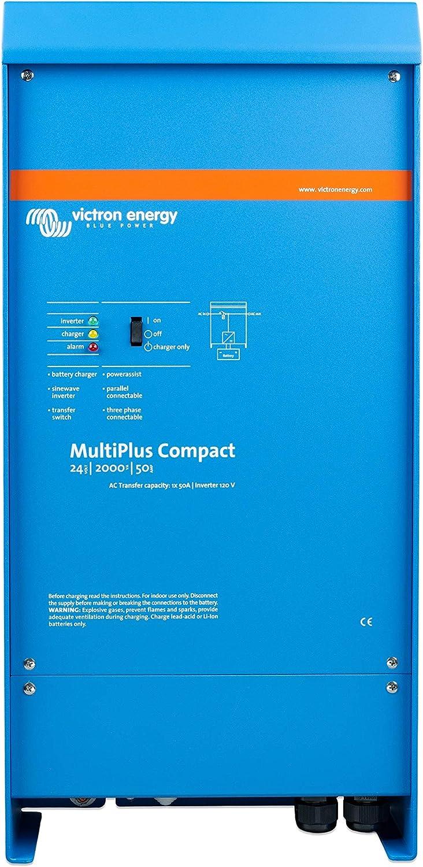 Victron Energy Inv/Chgr, Multi+ Compacto, 24V 2000VA 50A