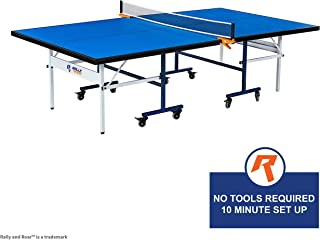 Rally and Roar Table Tennis Set – 2 and 4 Player Options – Classic or Premium – 5-ply Blade Soft Rubber Paddles, Ideal for Professional or Recreational Play Portzon Ping Pong Paddle Advanced Training Table Tennis Racket, with Soft Sponge Rubber Carrying Case for Training Recreational Play, Beginner, Single Indoor 15mm Table Tennis, Ping Pong Table with Net Set by Rally & Roar – Quick Assembly, Playback Mode, Space Saving Storage, Tournament Size, 30mm Steel Frame – Family and Friend Game Room Fun