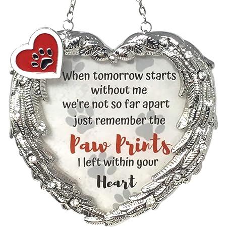 New Hanging Sun Catcher Memorial ~ Forever in my heart ~ Pet loss Rainbow Bridge
