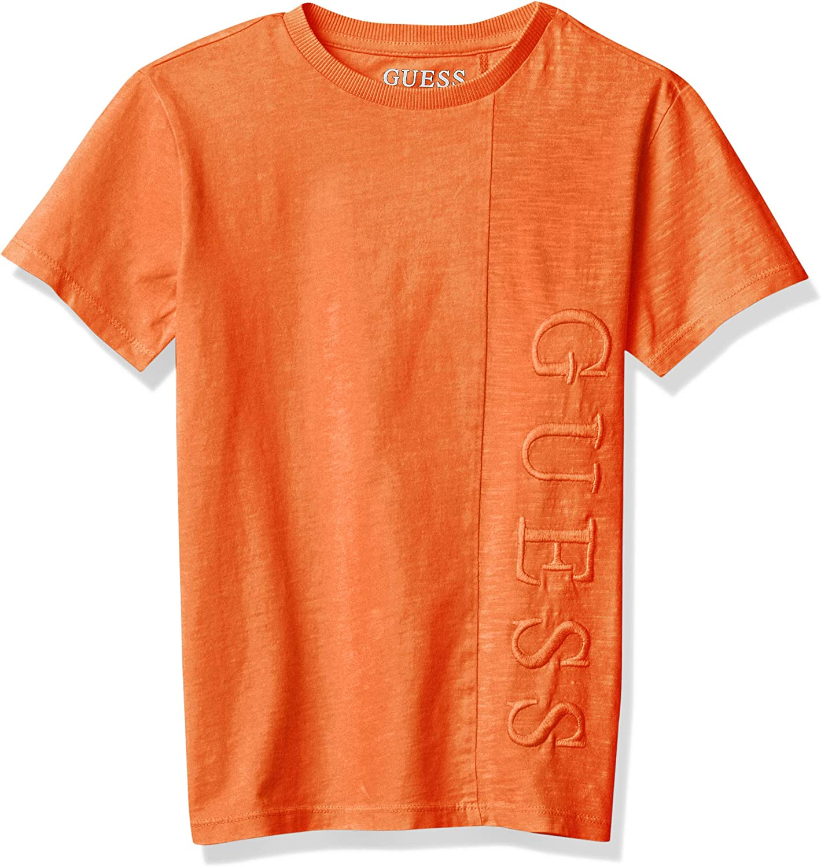 GUESS Boys' Overdyed Short Sleeve Logo T-Shirt