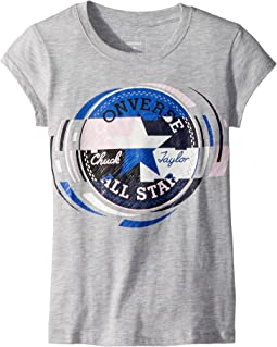 Converse Kids Retro Throwback Chuck Patch Tee (Big Kids)