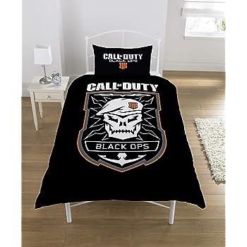 Call of Duty Bettwäsche-Set, Polycotton, Schwarz, Einzelbett