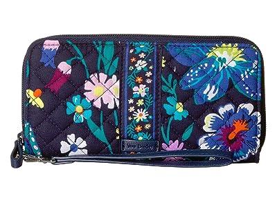 Vera Bradley Iconic RFID Accordion Wristlet (Moonlight Garden) Wristlet Handbags