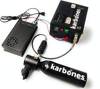 Karbones Mini dyktank påfyllningsbar med 12 V/220 V pumpkompressor kit för dykning 5-10 minuter kapacitet I högtrycksventi...