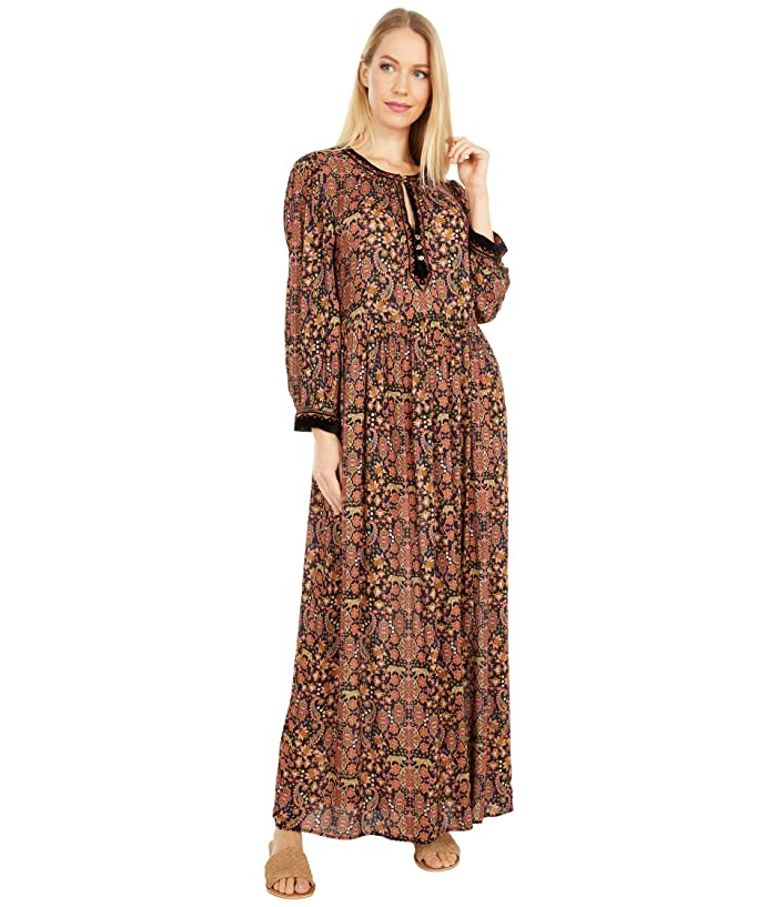 70s Clothes | Hippie Clothes & Outfits Johnny Was Maxi Peasant Dress Multi A Womens Dress $208.88 AT vintagedancer.com