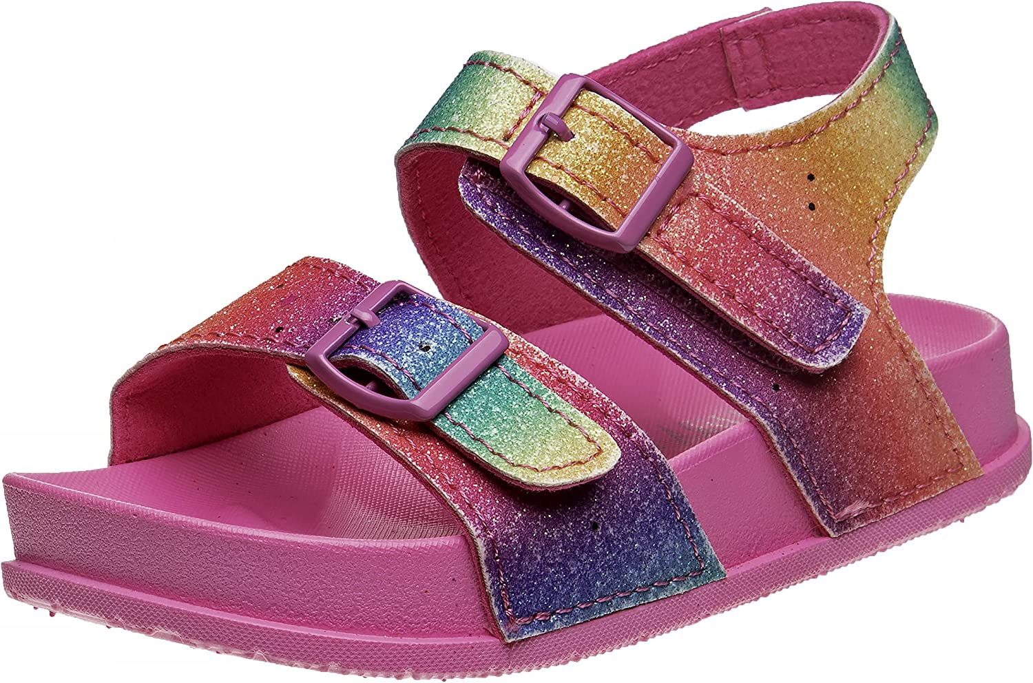 Laura Super sale period limited Ashley Girls' Sandals – Strapped Open Toe Buckle Bombing free shipping