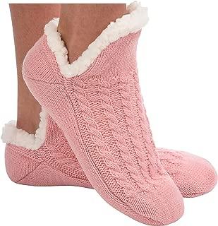 Womens Sherpa Socks | Microcrew Cable Sherpa Socks for Women