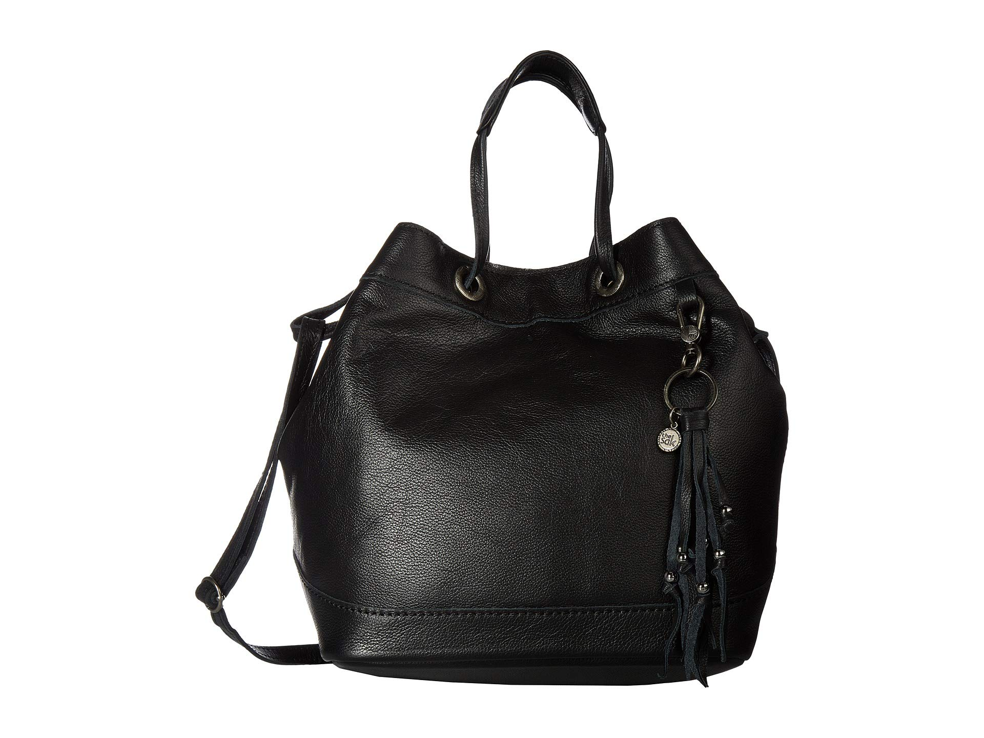 The Black Sak Bucket Leather Castella Drawstring 0q7rw04