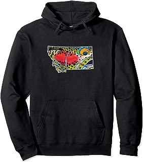Montana Rainbow Trout Hoodie Derek DeYoung Fishing Gift
