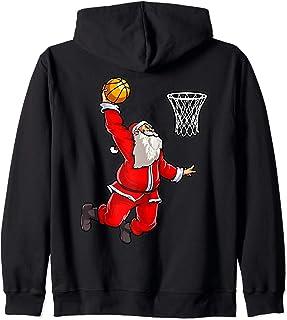 Baloncesto, santa claus, deporte, regalo Sudadera con Capucha