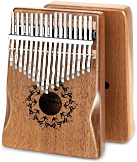 $31 » RYAIIS Kalimba 17 Keys Thumb Piano, Include Tuning Hammer and Study Instruction, Gifts for Kids Adult Beginners.