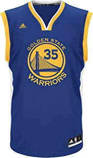 NBA Men's Golden State Warriors Kevin Durant Replica Player Home Jersey, 3X-Large, Blue
