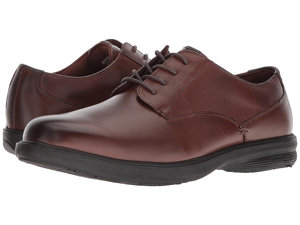 Nunn Bush Marvin Street Plain Toe Oxford with KORE Slip Resistant Walking Comfort Technology (Brown) Men