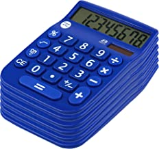 Office + Style 8 Digit Dual Powered Calculator with Large LCD Display, Blue (Pack of 6) photo