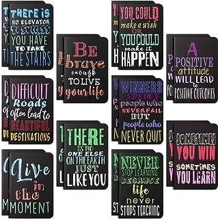 دفترچه یادداشت های الهام بخش دفترچه یادداشت انگیزشی دفترچه یادداشت کوچک جیبی برای دفتر مدرسه لوازم هدیه سفر در خانه ، 10 سبک (40 قطعه)