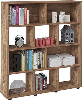 Artely MDF/MDP Book Shelf, Bookcase, Cabinet, Bookrack, Many Shelves, Ideal for Living Room, Bedroom, Office, Book Room, R...