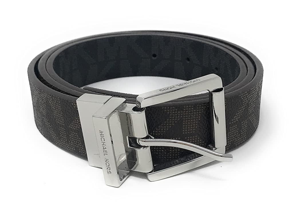 Michael Kors Women's Reversible MK Logo Leather Belt, Vanilla