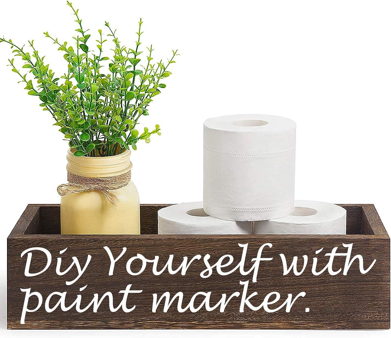 Boloyo Bathroom Decor Box Wooden Rustic List price Paper Holder Bargain Far Toilet