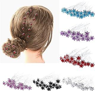 20Pcs Women Wedding Bridal Hairpins Crystal Rhinestone Rose Flower Hairpin Hair Clips Accessories