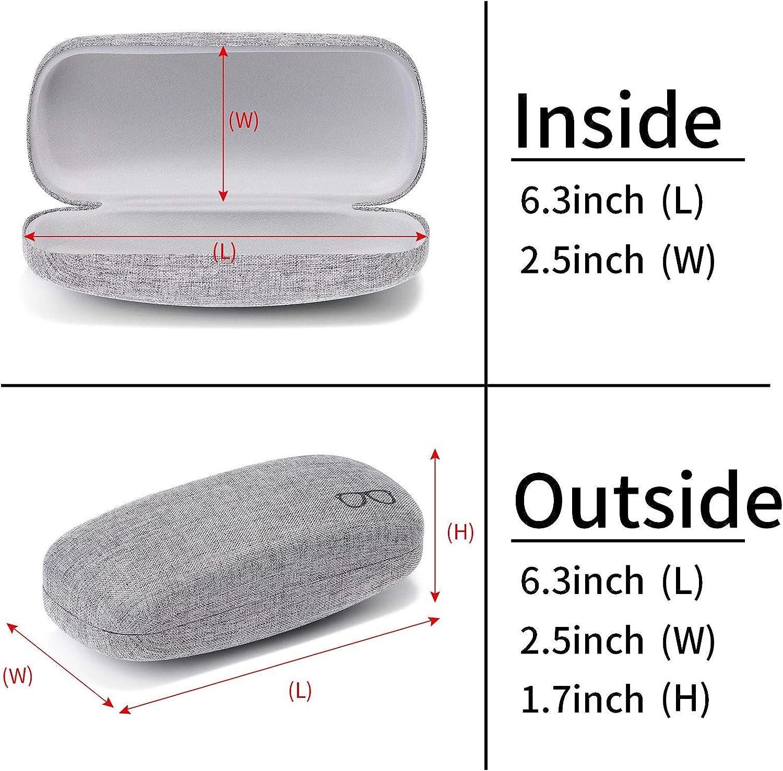 Sunglasses Case(2 Pack) Portable Travel Zipper Eyeglasses Frame glasses Case Hook For Mens and womens
