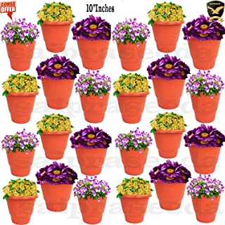 SAI PRASEEDA 10'' Inches Plant pots & Flower Baskets for Garden and Balcony (Pack of 24`s) Terracotta Color