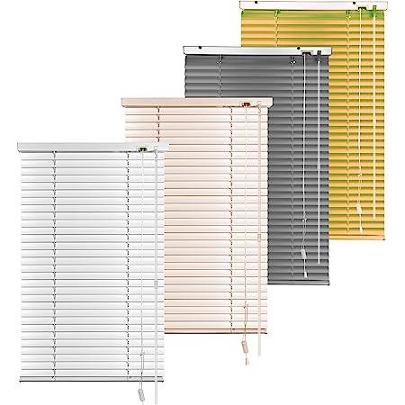S SIENOC Persiana, persiana de Aluminio,persianas venecianas de Aluminio, persianas venecianas, estores para Ventana (Plata, 40x130 cm)
