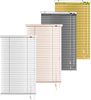 S SIENOC Persiana, persiana de Aluminio,persianas venecianas de Aluminio, persianas venecianas, estores para Ventana (Blanco, 80x130 cm)
