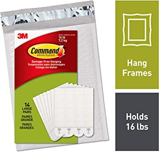 Command Large Picture Hanging Strips, Easy On, Easy Off, (PH206-14NA)