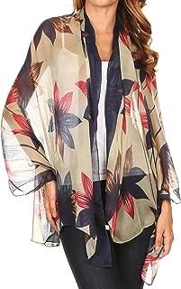 Nichole summer gauze featherweight patterned versitile sheer scarf wrap
