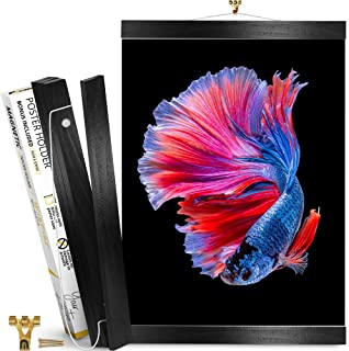 Magnetic Poster Frame Black 12 inch – Magnetic Poster Hanger for Pictures, Photos, Prints, Maps and Canvas Artwork – Magne...