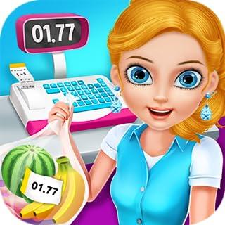 Supermercado Compras y Cajero - ¡Juego libre para poseer tu tienda, almacenar artículos, ganar dinero y servir a clientes felices!