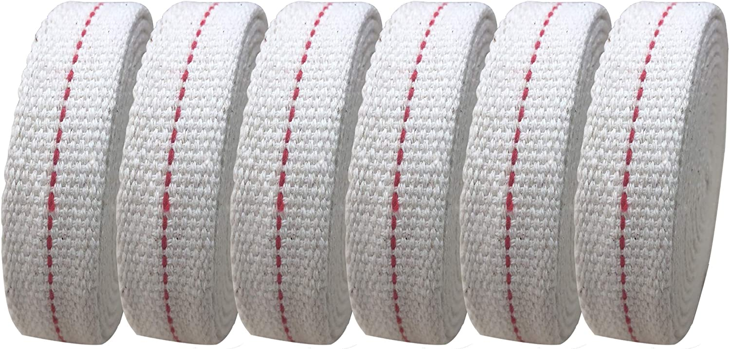 LEFUBABY 6.5 Sale price Feet Per Roll Cotton Lamp Oil Stitch Sales for sale Wick Red with