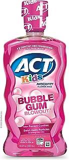 ACT Kids Anti-Cavity Fluoride Rinse Children's Mouthwash , Bubble Gum Blow Out, 16.9 Fl Oz