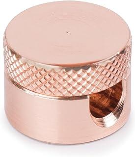 3x Stück   Aufputz Kabelhalter aus Messing (verkupfert), Kabelaufhängung für Textilkabel