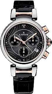 Edox Women's 10220 357RC NIR LaPassion Analog Display Swiss Quartz Black Watch