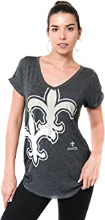 Ultra Game NFL Women's Soft V-Neck Tee Shirt