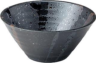 美濃焼 麺鉢・丼 しぶき 切立丼 磁器 黒 K80313