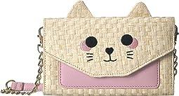 Sissy 3D Cat Kitsch Straw Crossbody