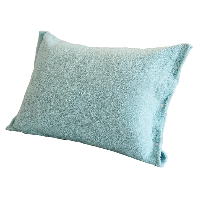にぎやか蓮粘着性TRANPARAN 枕カバー ピローケース タオル地 日本製 (ミントブルー)