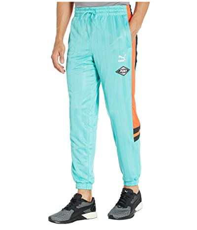 PUMA LuXTG Luxe Woven Pants (Blue Turquoise) Men